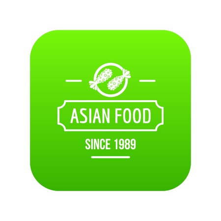 Thai asian food icon green vector Illustration