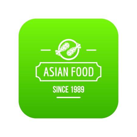 Thai asian food icon green vector Ilustrace