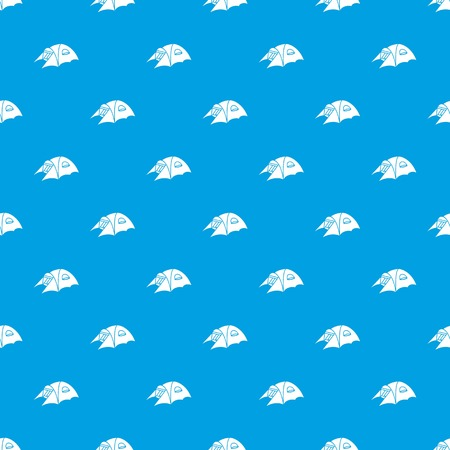 Tourist tent pattern vector seamless blue