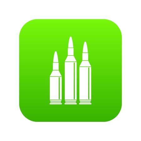 Bullet ammunition icon digital green for any design isolated on white vector illustration