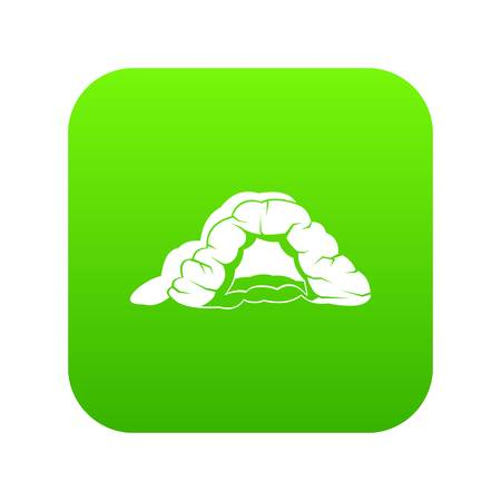 Cave icon green vector 일러스트