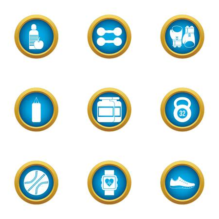 Accordance icons set. Flat set of 9 accordance vector icons for web isolated on white background  イラスト・ベクター素材