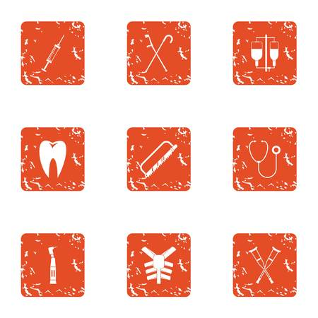 Skeleton frame icons set. Grunge set of 9 skeleton frame vector icons for web isolated on white background Illustration