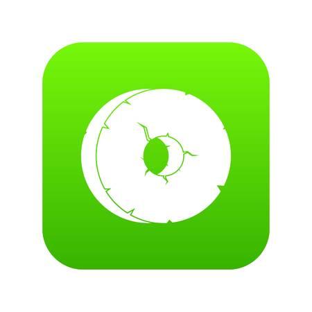 Primitive tool icon green vector