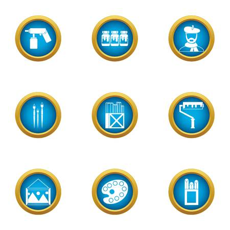 Creative initiative icons set. Flat set of 9 creative initiative vector icons for web isolated on white background