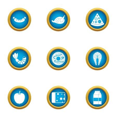 Repast icons set. Flat set of 9 repast vector icons for web isolated on white background