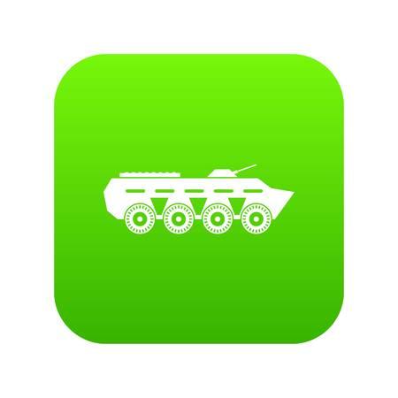 Army battle tank icon digital green