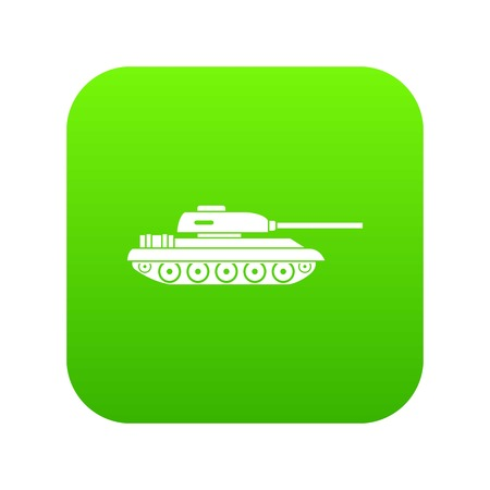 Tank icon digital green for any design isolated on white vector illustration
