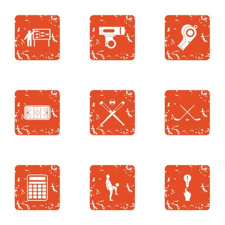 Plan icons set. Grunge set of 9 plan vector icons for web isolated on white background