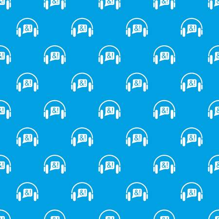 Consultation by phone pattern vector seamless blue repeat for any use