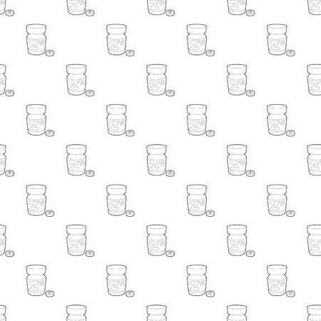 Icono de pastilla para dormir. Ilustración de esquema de icono de vector de pastilla para dormir para diseño web Ilustración de vector