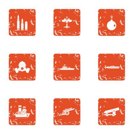 Deprivation icons set. Grunge set of 9 deprivation vector icons for web isolated on white background Stock fotó - 105613235