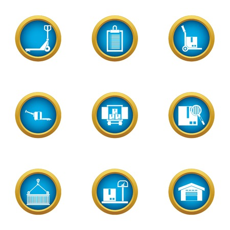 Deliver the payload icons set. Flat set of 9 deliver the payload vector icons for web isolated on white background