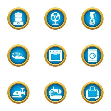 Kitchenware icons set. Flat set of 9 kitchenware vector icons for web isolated on white background
