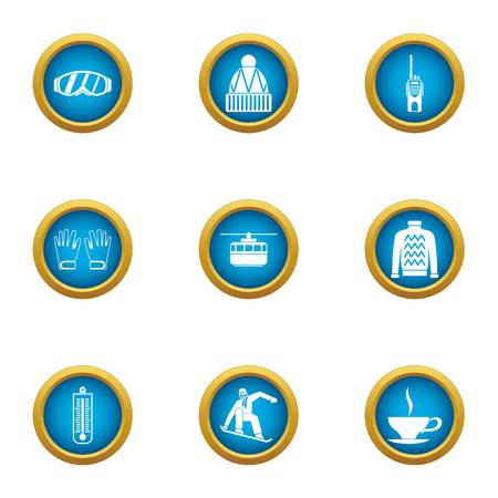 Warm up icons set. Flat set of 9 warm up vector icons for web isolated on white background 일러스트