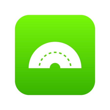 Round turning road icon digital green