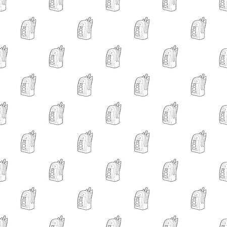 School backpack icon in outline style isolated on white background vector illustration Stock Illustratie