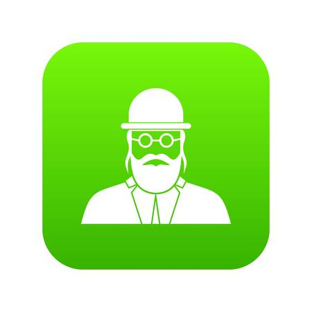 Orthodox jew icon digital green for any design isolated on white vector illustration