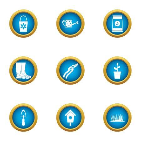 Master botanist icons set. Flat set of 9 master botanist vector icons for web isolated on white background