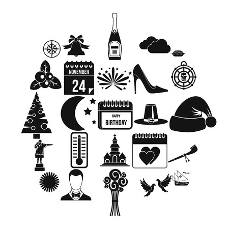 Playday icons set. Simple set of 25 playday vector icons for web isolated on white background