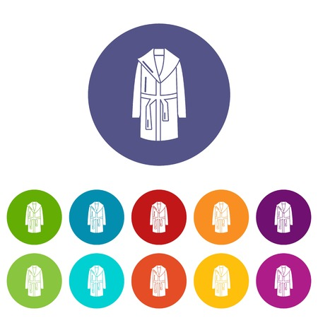 Bathrobe icons color set vector for any web design on white background  イラスト・ベクター素材
