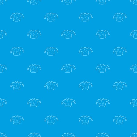Hat clown pattern vector seamless blue repeat for any use Illustration