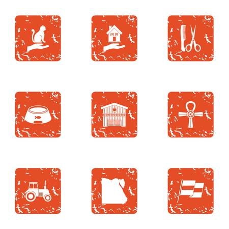 Preserve icons set. Grunge set of 9 preserve vector icons for web isolated on white background  イラスト・ベクター素材