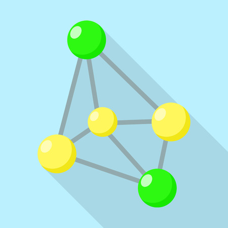 Oxidant molecule icon. Flat illustration of oxidant molecule vector icon for web design Illustration