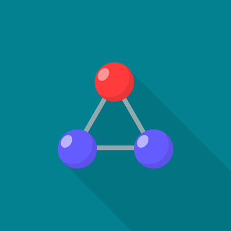 Triangular molecule icon. Flat illustration of triangular molecule vector icon for web design