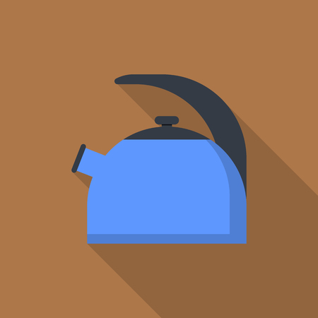 Kettle icon. Flat illustration of kettle vector icon for web design