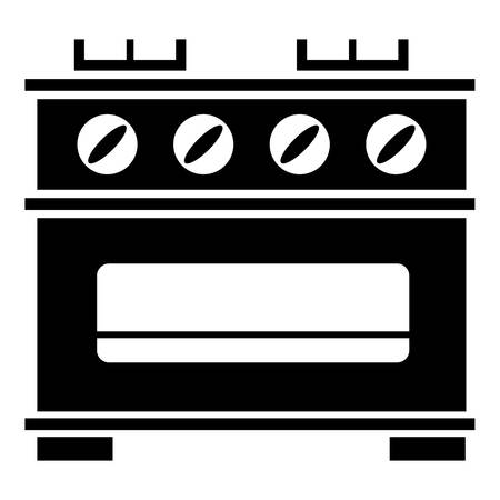 Kitchen stove icon. Simple illustration of kitchen stove vector icon for web design isolated on white background