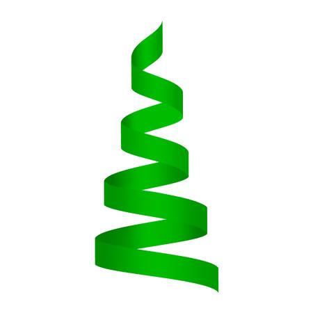 Maqueta de serpentina verde. Ilustración realista de maqueta de vector serpentina verde para diseño web aislado sobre fondo blanco Ilustración de vector