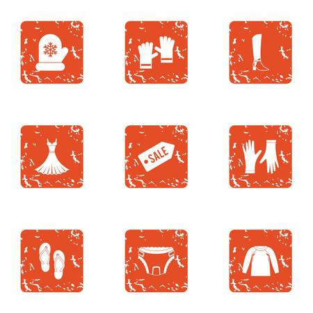 Clearance sale icons set. Grunge set of 9 clearance sale vector icons for web isolated on white background Stock Illustratie