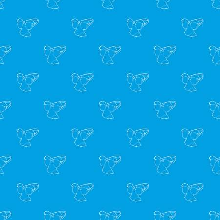 Clown face pattern vector seamless blue repeat for any use