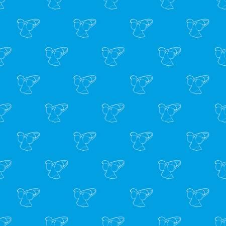 ピエロの顔パターンベクトルシームレスな青色の繰り返し任意の使用