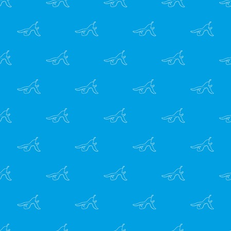 Banana peel pattern vector seamless blue repeat for any use