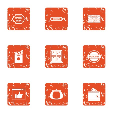 Social life icons set. Grunge set of 9 social life vector icons for web isolated on white background