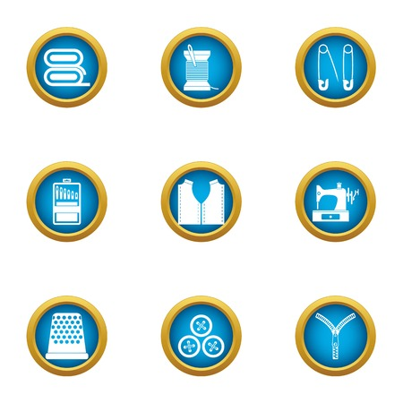 Repair clothing icons set. Flat set of 9 repair clothing vector icons for web isolated on white background