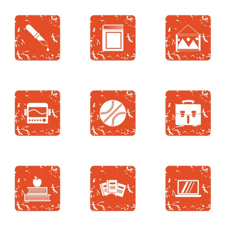 Artist icons set. Grunge set of 9 artist vector icons for web isolated on white background