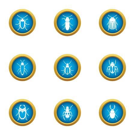 Nullity icons set. Flat set of 9 nullity vector icons for web isolated on white background