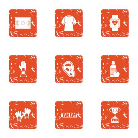Primacy icons set. Grunge set of 9 primacy vector icons for web isolated on white background
