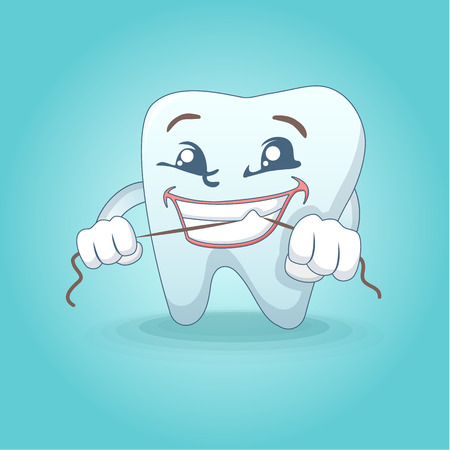 Cute smiling tooth concept background. Cartoon illustration of cute smiling tooth vector concept background for web design
