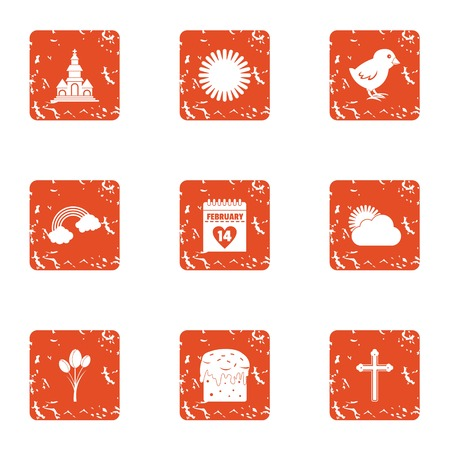 Scorching icons set. Grunge set of 9 scorching vector icons for web isolated on white background