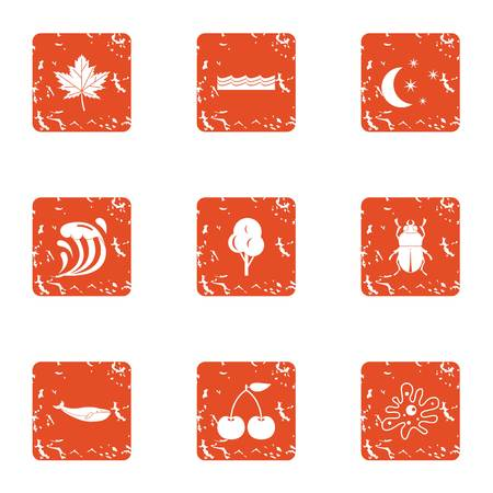 Essence icons set. Grunge set of 9 essence vector icons for web isolated on white background