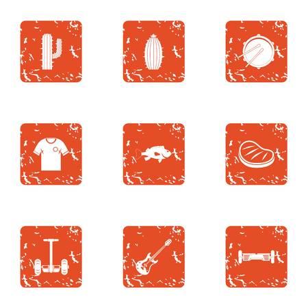 Seedling icons set. Grunge set of 9 seedling vector icons for web isolated on white background