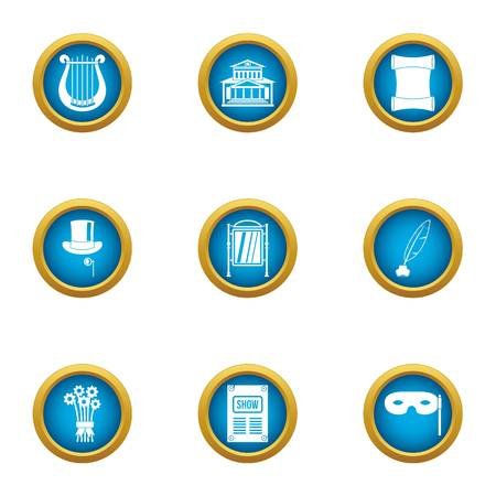 Agreement icons set. Flat set of 9 agreement vector icons for web isolated on white background Illustration