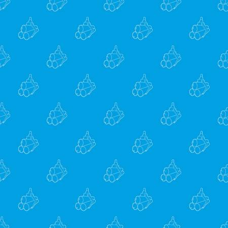 Hydraulic crane with log pattern vector seamless blue repeat for any use