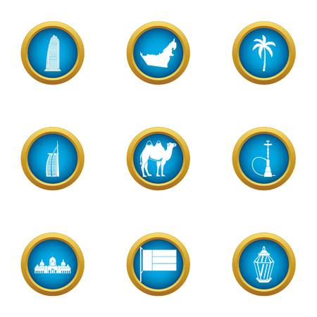 Equatorial icons set. Flat set of 9 equatorial vector icons for web isolated on white background