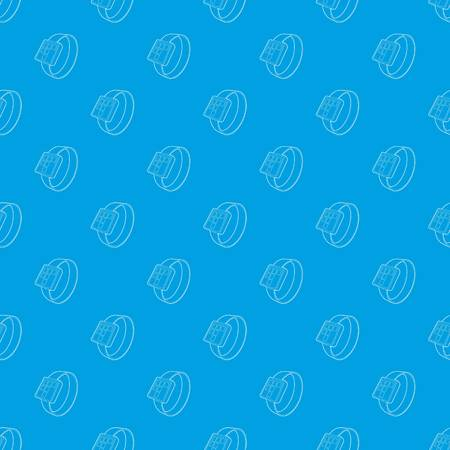 Smart watch pattern vector seamless blue repeat for any use