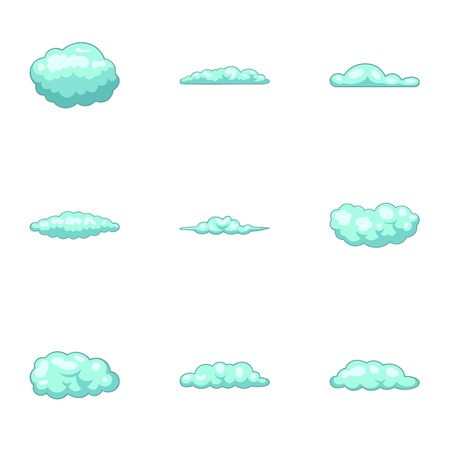 Murky icons set. Cartoon set of 9 murky vector icons for web isolated on white background 일러스트